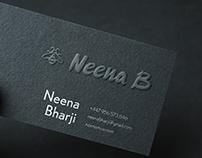 Neena B logo & website