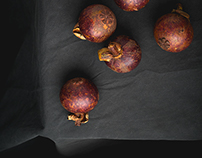 Exotic Fruit in Northern Kitchen. Cookbook