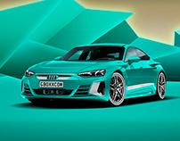 2021 Audi e-tron GT Tiffany Blue
