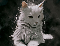 Digital Painting - Cat portrait