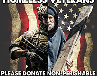 Homeless veterans food drive poster