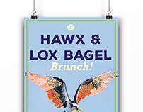 Hawx & Lox Bagel Brunch! Poster