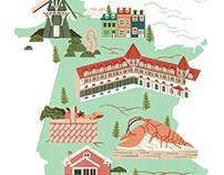 New Brunswick - Canada Map Illustration