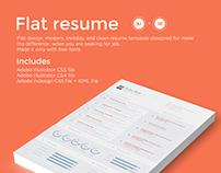 Flat resume | Diseño de plantilla