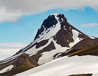 Mountain in Iceland - painted in Adobe Photoshop CC