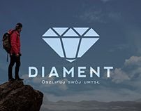 "Logo design for club of personal development ""Diament"""