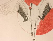 Crane & red