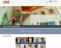 Website corporativo Instituto de Alta Investigación IAI