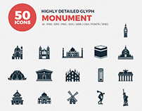 JI-Glyph Monuments Icon Set
