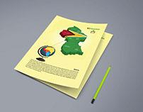 Guyana 3d Flag map
