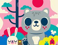 Woodland Bear and Bunny