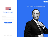 House of Cards Sign in ui
