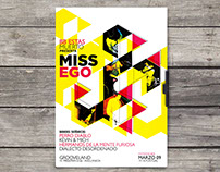Flyer presentación Miss Ego - BB Estás Muerto