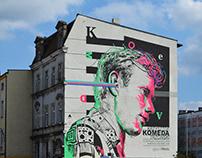 Krzysztof KOMEDA Trzciński — mural