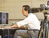 Giovanni Gastel nel nostro Studio Fotografico.