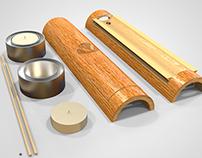 Empaque de Bambú para Varas de Incienso