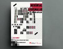 art exhibition banner and invitation card design