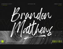 BRANDON MATTHEWS HANDBRUSH SCRIPT - FREE FONT