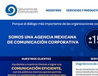 Sitio web Soluciones de Comunicación, S.C.