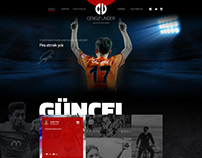 Cengiz Ünder Official Website Design