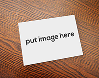 Free Simple Postcard Mockup on Table Psd