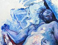 """Bottom"", oil on canvas"