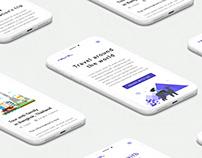 Mockup mobile for Travel webapp