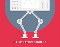 AI CMS - Illustration concept