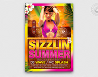 Beach Party Flyer Template V7