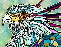 Secretary Bird Illustration