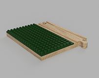 LEGO Ground Plate for Wooden Railways