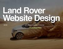 Land Rover Website: Premium Asset UI Files