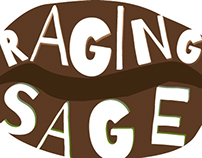 Imagined Logo/Branding Redesign- Raging Sage Coffee