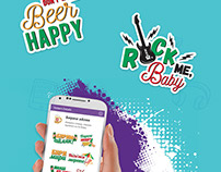 Beer Stickers on Viber