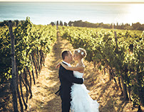 Enchanting wedding at the vineyard and olive groove