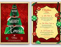 Christmas Menu Template V7