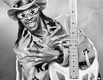 Bootsy Collins Digital Art by Wayne Flint