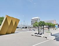 Vorplatz Deutsches Fussballmuseum