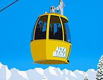 Alta Badia Ski Resort Poster