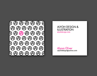 AlyOh Design Business Cards