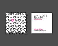 AlyOh Design Business Cards