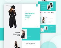 E-commerce Landing Page Concept... Zara