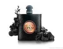 Fragrance Bottle with Black Liquid