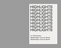 HIGHLIGHTS —LECTURE