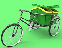 Rikshaw for garbage collectors