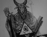Baphomet T-Shirt Design