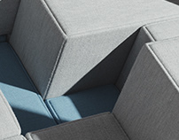 Voxel Sofa by Bjarke Ingels Group