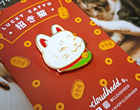 Lucky Catto - Good Luck Cat enamel pin