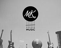 MK Music logo & projekt wizytówki
