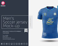 Men's Soccer Jersey Mockup V4
